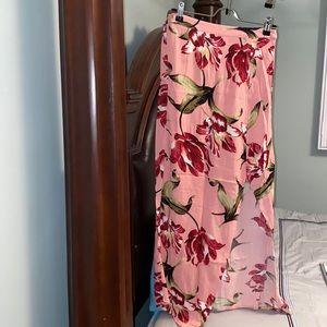 Forever 21 floral skirt with slit